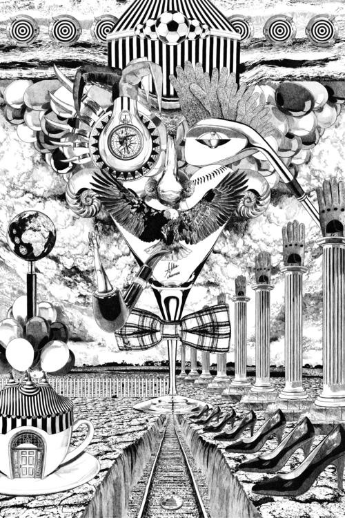 TRES VECES TRES - surreal, surrealism - alberto_matsumura | ello