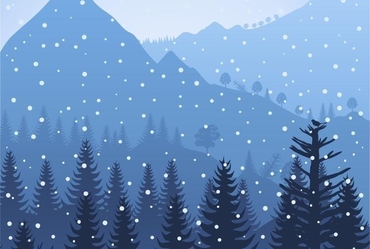nature, snow, tree - vector30 | ello