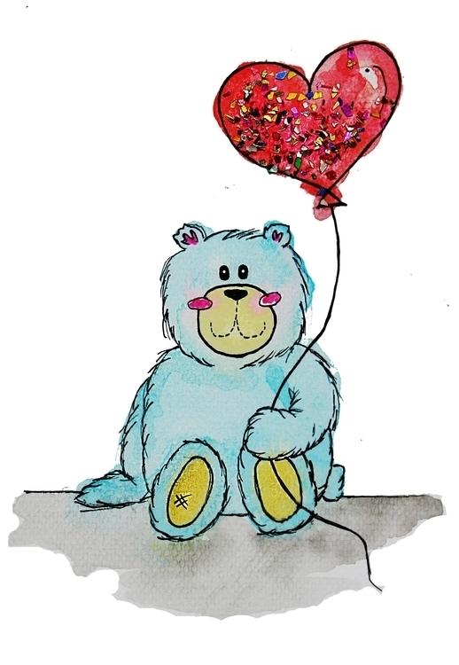 birthday bear - happybirthday, illustration - kaitlynsmith | ello