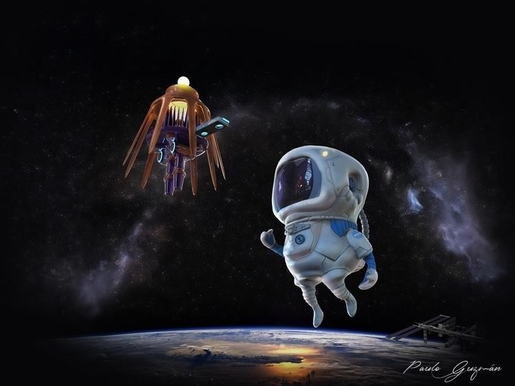 Tiny Astronaut - characterdesign - kalel2009 | ello