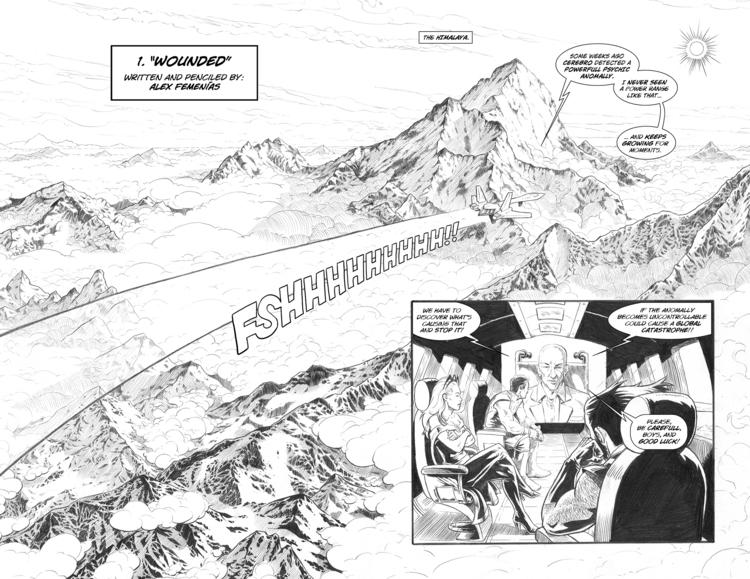 cover page 01 - comic, wolverine - alexfemenias | ello