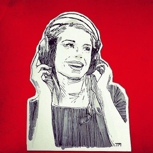 Woman headphone. Cutout paper c - monkeycrisisonmars | ello