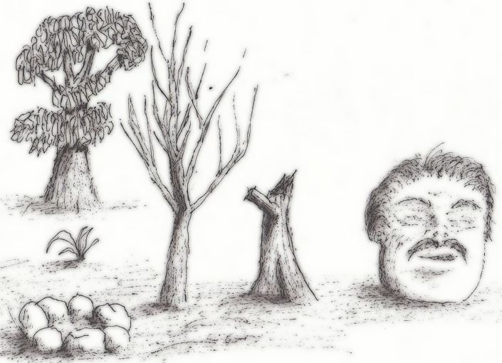 Odd trees - illustration, drawing - cheechwiz | ello