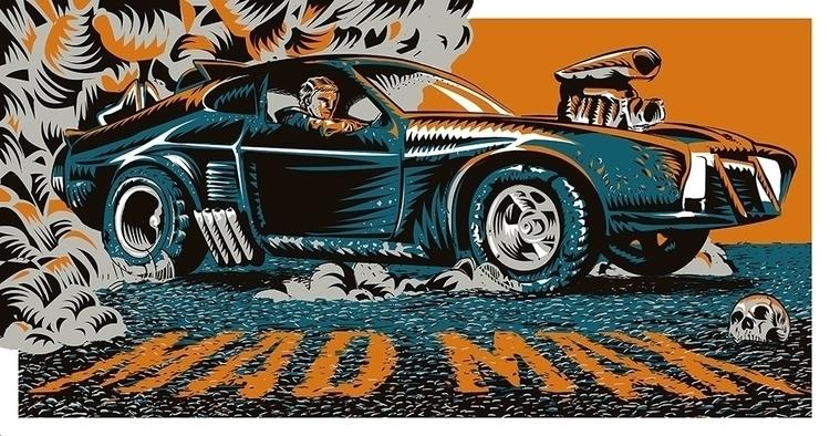 MAD MAX - Art Poster 1979 Austr - francescodibattista | ello
