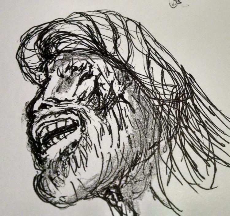 Rock star - drawing, #pens - cheechwiz | ello