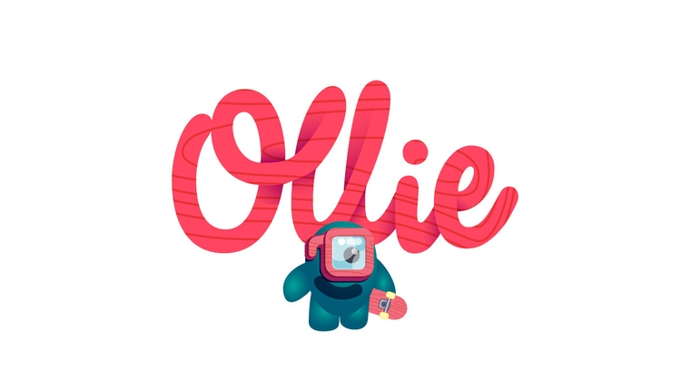 Ollie - illustration#illustrator#vector#vectorart#vectorillustration#vectorcharacter#typography#characterdesign#drawing#draw#lukeandphil - lukeandphil | ello