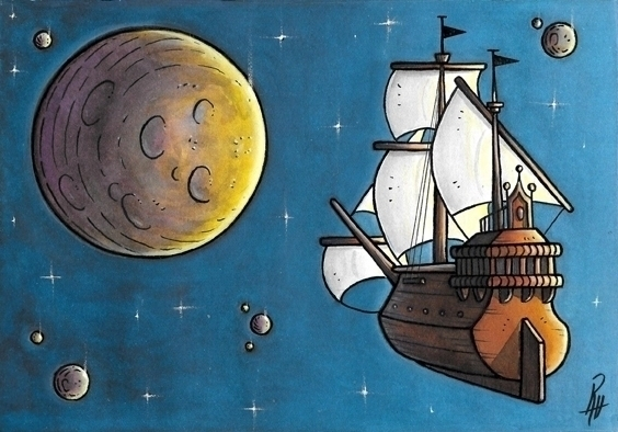 Voyage - illustration, painting - marcorizzi-1205 | ello