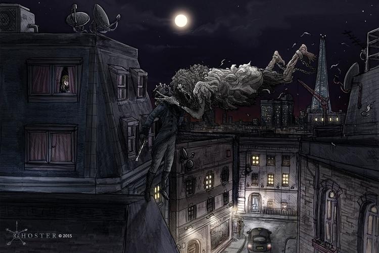 Ghoster concept art - Rooftop f - joebecci | ello