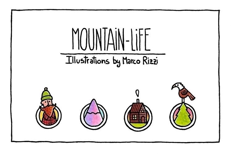 Mountain Life (cover - illustration - marcorizzi-1205 | ello