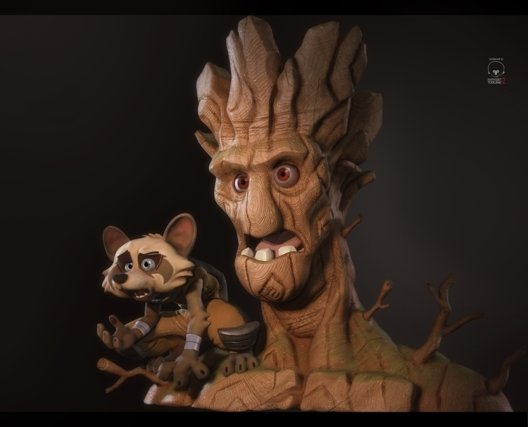 Rocket Groot , game art based c - antone_m | ello