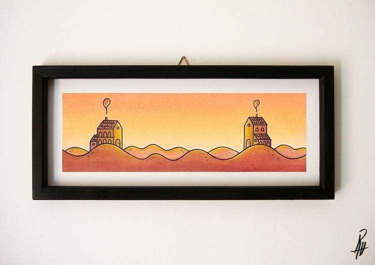 Sunset (handmade frame - illustration - marcorizzi-1205 | ello