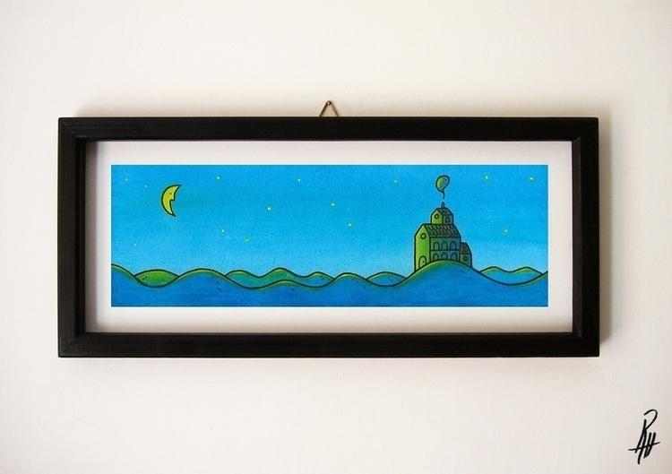 Silence (handmade frame - illustration - marcorizzi-1205 | ello
