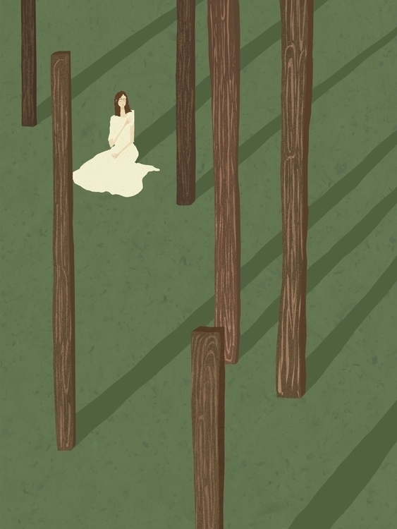 trees, figure, green - charlottekingstonlarson | ello