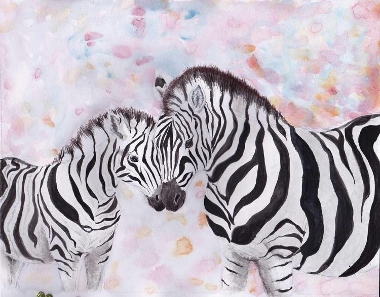 Zebras friend favourite animals - emilygrobler | ello