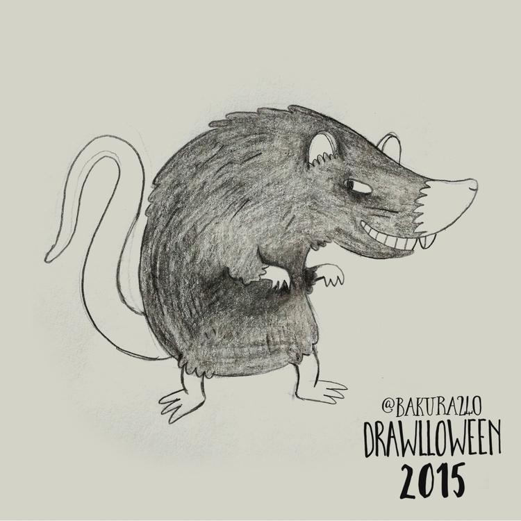 26 - Rat - rat, sketch, drawlloween - clairestamper | ello