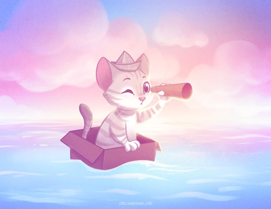 Captain Beepo sails high seas!  - chelseakenna | ello