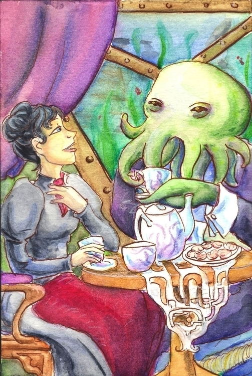 watercolor, illustration, fantasy - foolishmortal-9324   ello