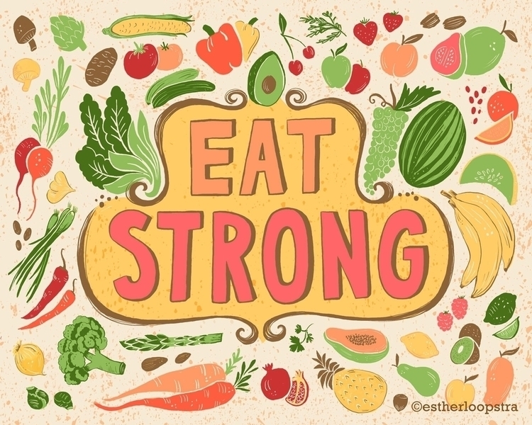 Eat strong Illustration - food, health - estherloop | ello