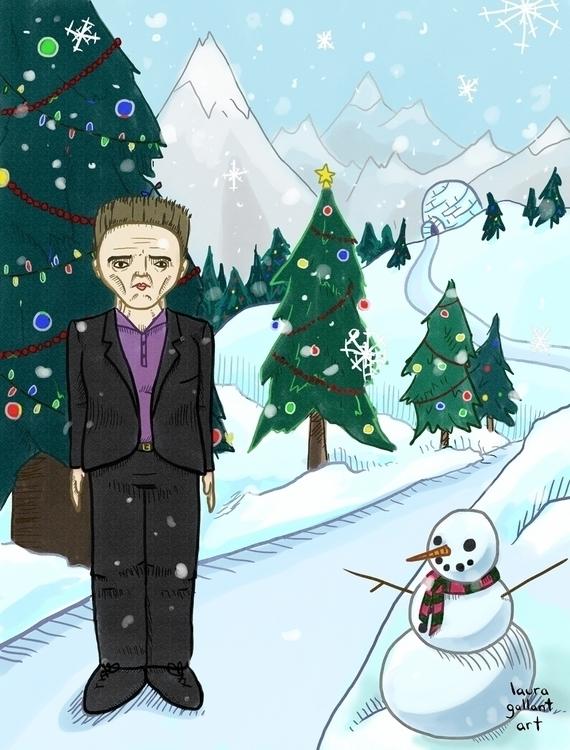 Walken Winter Wonderland card D - lgallantart | ello