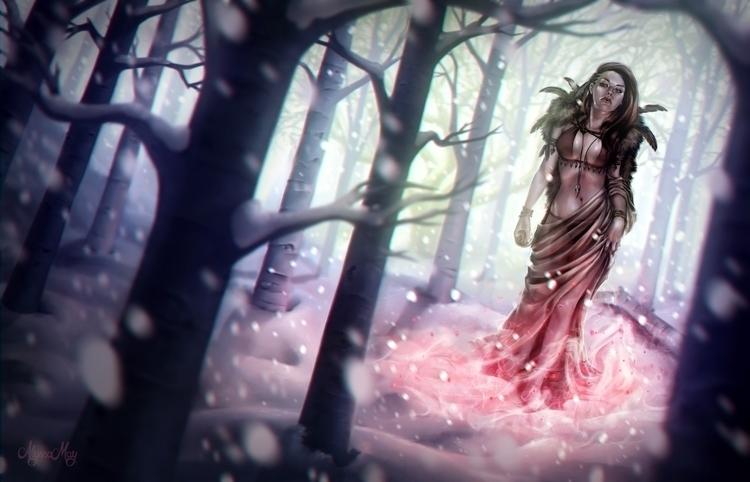 "Envious Heart"" - Digital painti - penguinstein | ello"