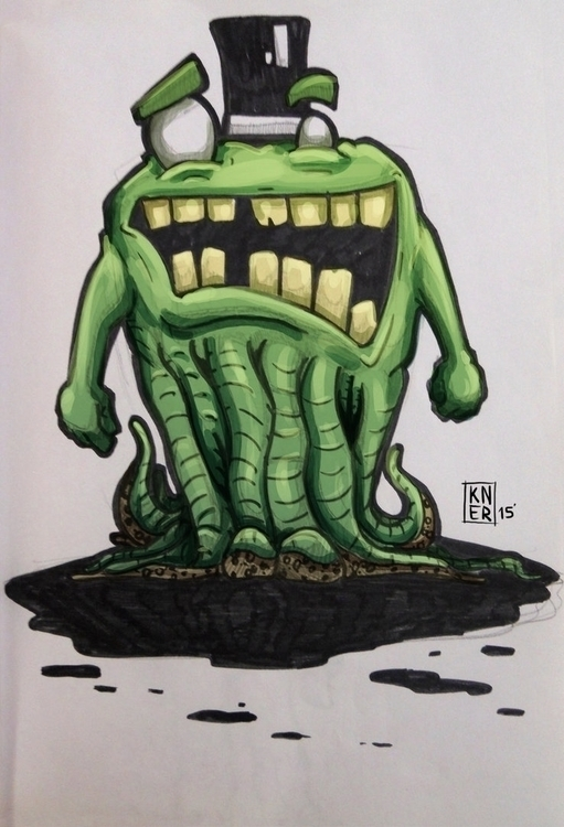 Sir Monster - illustration, painting - cnerone21 | ello