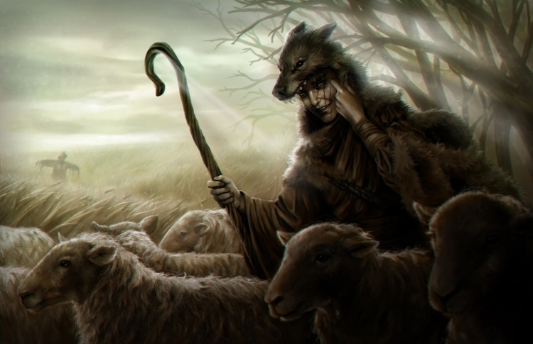 """Cried Wolf"" - Digital painting - penguinstein | ello"