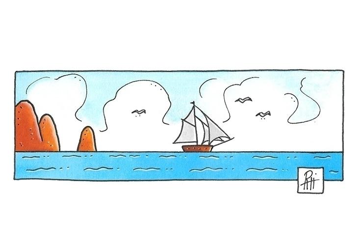 Coast - illustration, painting, ink - marcorizzi-1205 | ello