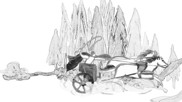 Chariot - illustration, animation - mkbarr | ello