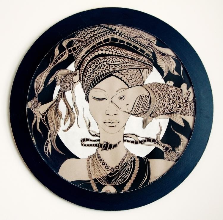 Fisheye - ink, traditional, illustration - ioanaz | ello
