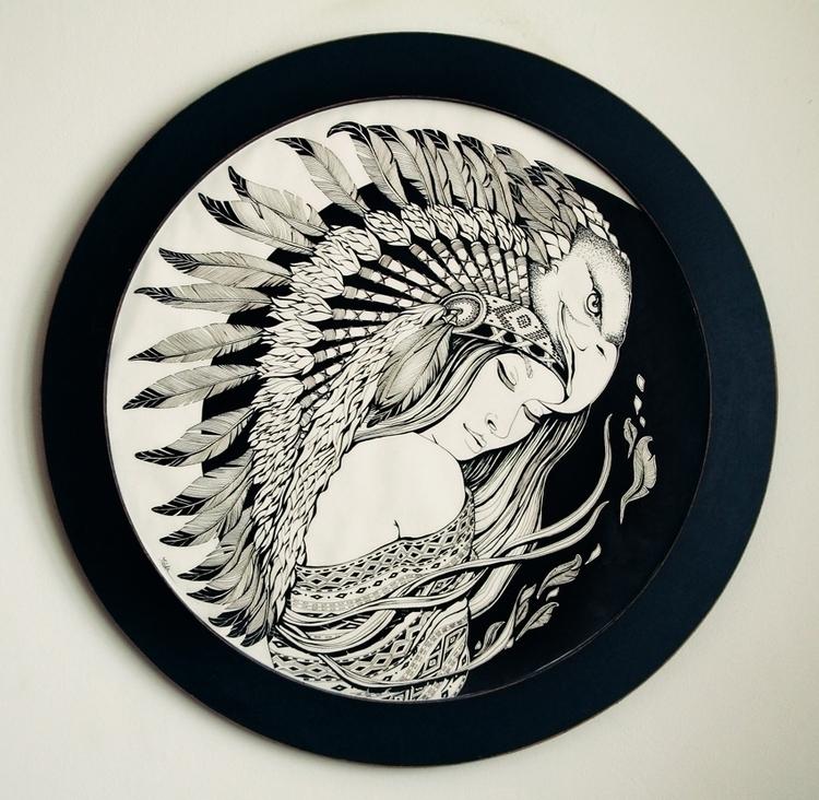 Feathers dream - ink, traditional - ioanaz   ello