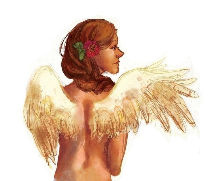 digitalart, angel - thecapturedspy | ello