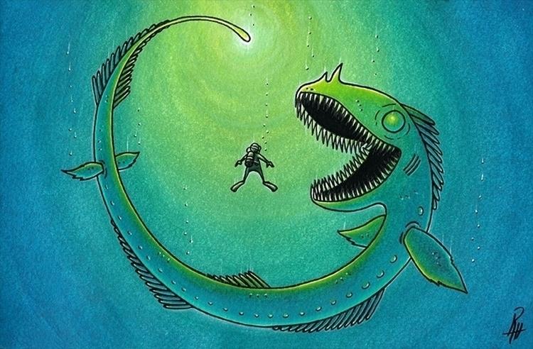Fears - illustration, painting, traditionalart - marcorizzi-1205 | ello