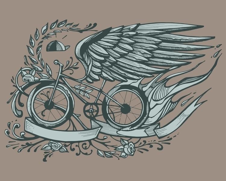 Flying bike - bicycle,bike,sport,wing,retro,vintage,cap,plants,sport,ride - bernardojbp   ello