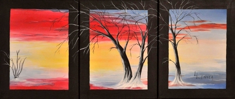 YESTERDAYS Lennea - painting, abstactlandscape - lenneastudio | ello