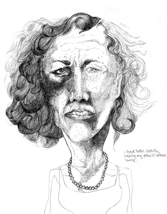 illustration, blackandwhite, pen - angelafuhrms | ello