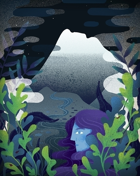 mountains, girl, river, plants - stephaniekubo-8873 | ello