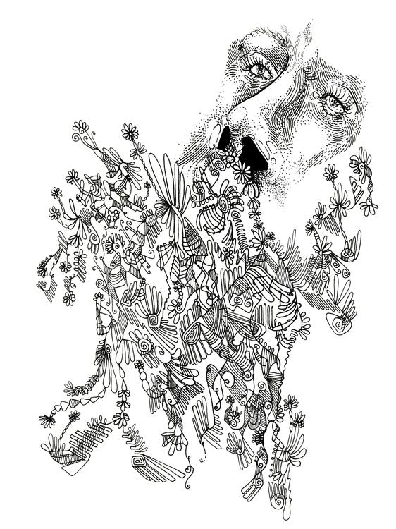 face, human, flower, flowers - angelafuhrms   ello