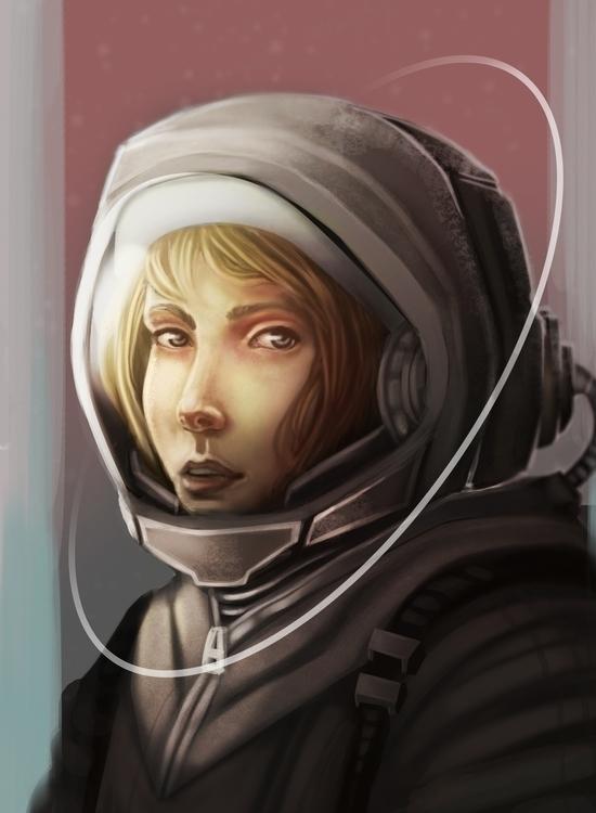 Astronaut - illustration, space - timvanwyns | ello