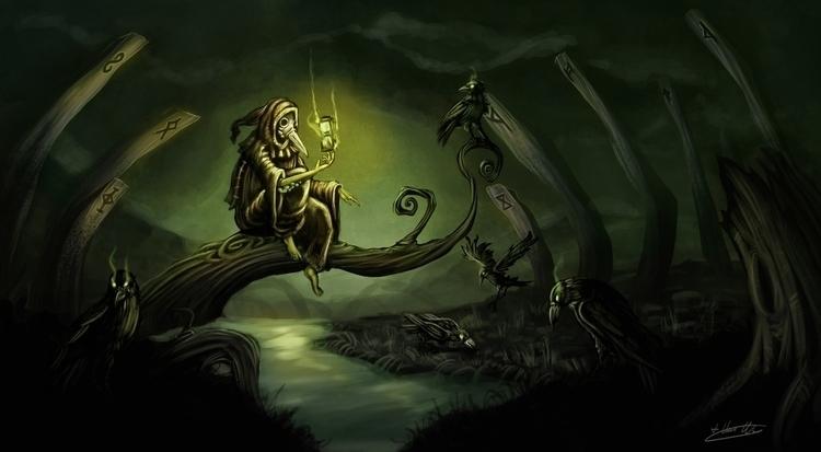 condemned wanderer - illustration - timvanwyns | ello