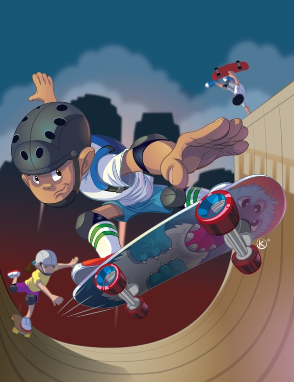 Skater Kids Created Adobe Illus - universek-1349 | ello