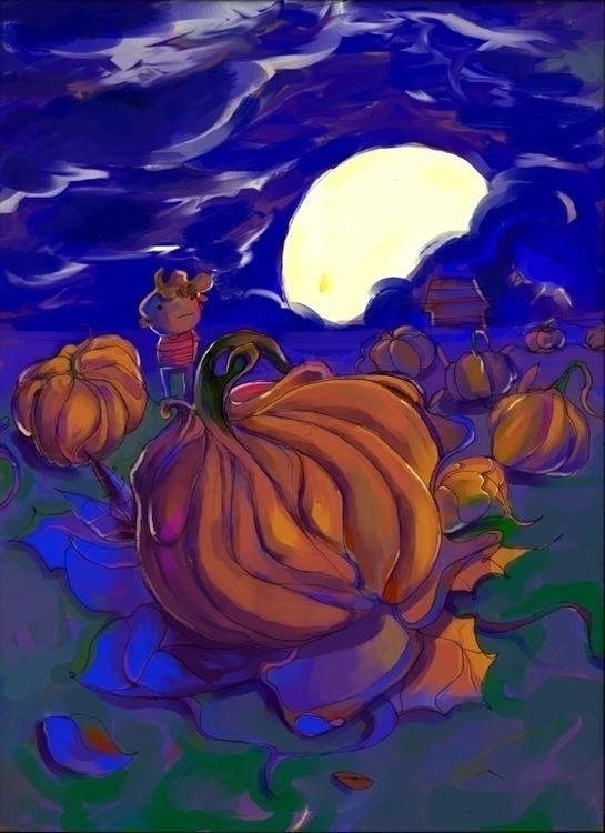 Great Pumpkin - pumpkin, halloween - jramseyi | ello