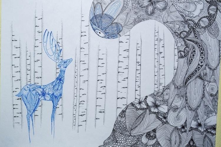 woods - illustration - kelseymull   ello