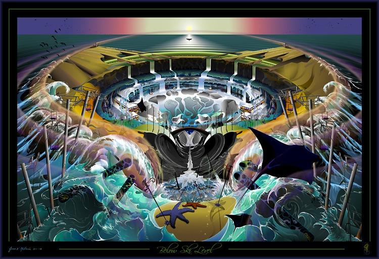 SKI LEVEL fantasy landscape dep - jamesmulvania | ello