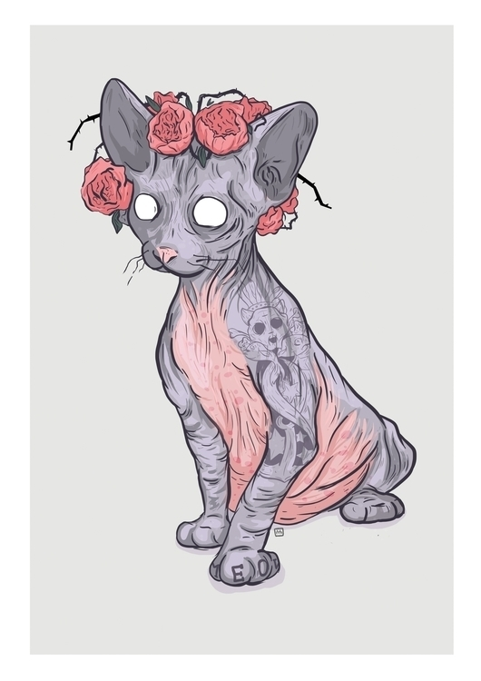 Lucy - cat, illustration, characterdesign - theroyalbubblemaker | ello