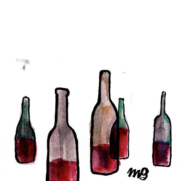 wine, illustration, watercolor - buchino-1190 | ello