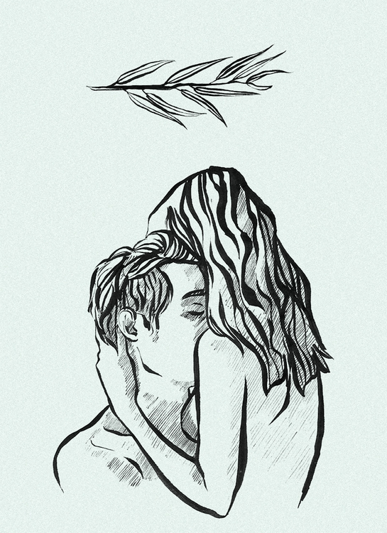 illustration, love, couple, ink - keit | ello
