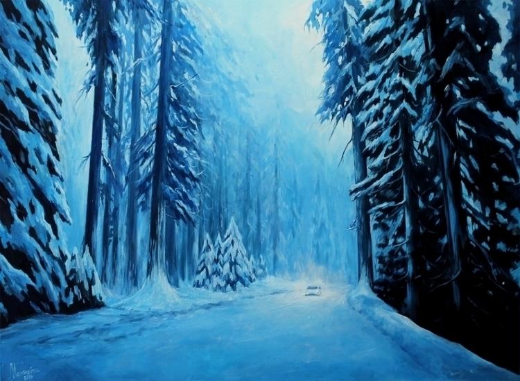 Frost - forest, pine, tree, cold - lanamarandina | ello