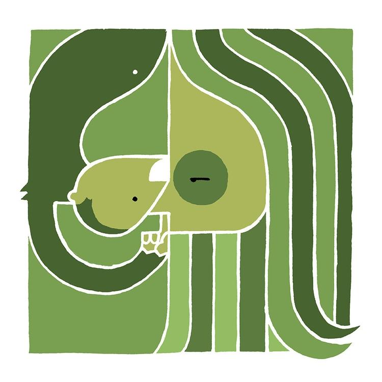 beatles, johnlennon, monkey, illustration - buchino-1190 | ello