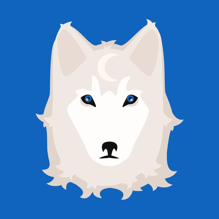 Luna, female wolf - illustration - danperin   ello