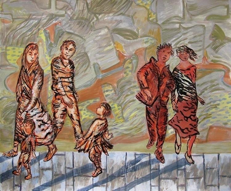 Family - painting, acrylicpainting - frankcreber | ello